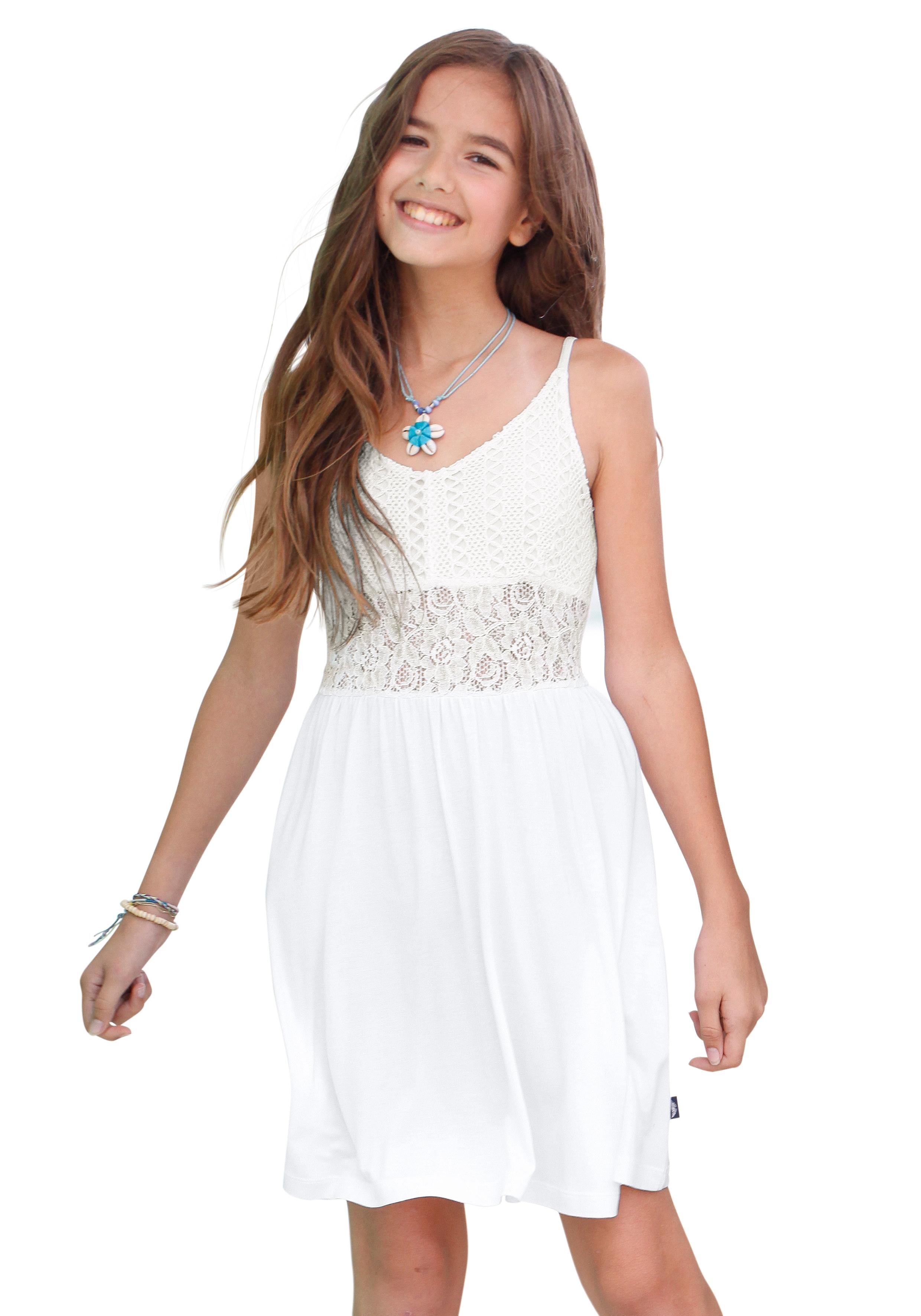 e86b94d8e959e8 Favoriete ARIZONA Meisjes-jurk met kanten inzet nu online kopen