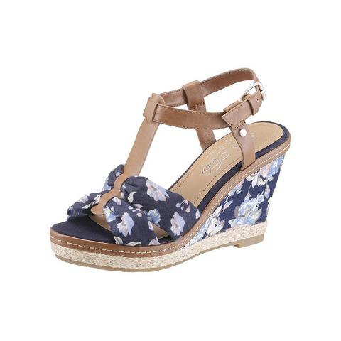 Dames schoen: TOM TAILOR Sleehaksandaaltjes met bloemenprint