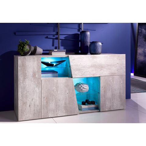 INOSIGN sideboard in diagonale look, breedte 160 cm