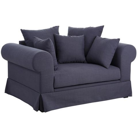 HOME AFFAIRE Fauteuil Palmina in hoezen-look