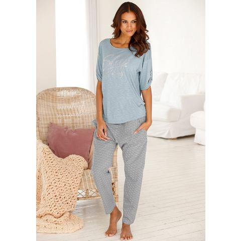 BUFFALO harem-pyjamabroek »Cara« met fijne allover-print