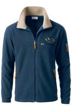 marco donati fleece-jack van polyester blauw