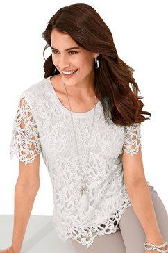 alessa w. shirt van transparante kant wit