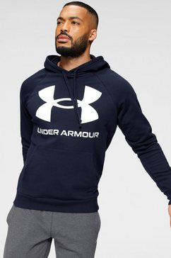 under armour hoodie »ua rival fleece big logo hd« blauw