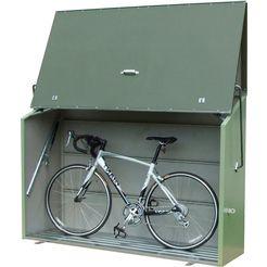 overkapping voor fietsen-kliko`s »sesame«, voor 2x240 l, staal, bxdxh: 185x76x139 cm grijs