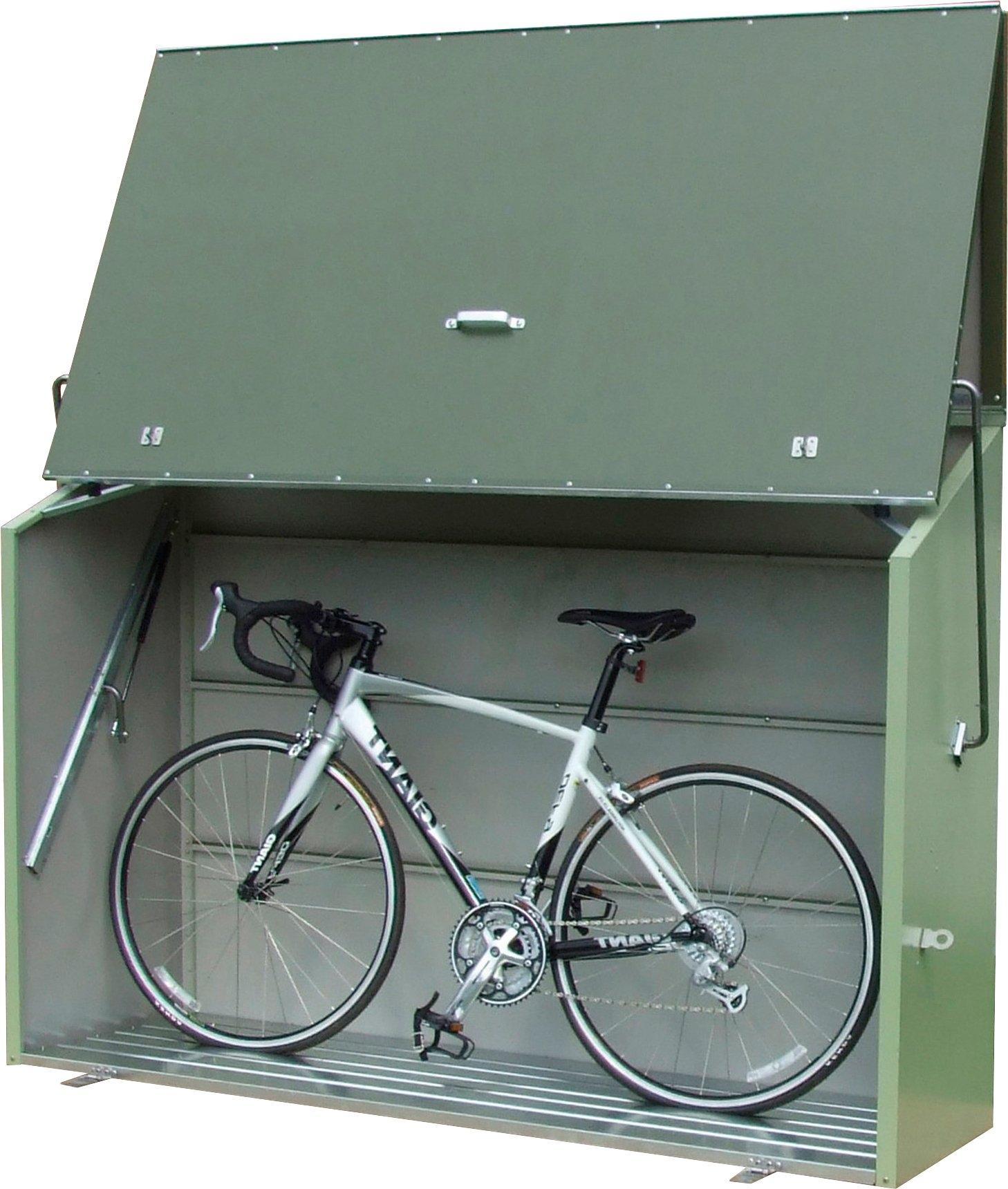 Trimetals Overkapping voor fietsen/kliko`s »Sesame«, voor 2x240 l, staal, bxdxh: 185x76x139 cm bestellen: 30 dagen bedenktijd