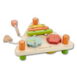 everearth houten speelgoed, »2-zijdige muziekdriehoek« multicolor