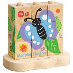 everearth blokkenpuzzel van hout, »rups-vlinder« multicolor