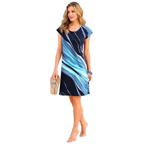 NU 15 KORTING ARABELLA Strandjurk van katoen, Strandjurk van ARABELLA. De rondom gedessineerde zomerse jurk is perfect voor bij het zwembad of aan het strand. Elk exemplaar is uniek! De zijsplit en de single-jerseykwaliteit staan garant voorExtra gegevens:Merk : ArabellaKleur : blauwVerzendkosten : 3.95Maat/Maten : 38;40;42;44;46;48;50;52Materiaal : baumwolleLevertijd : Levertijd: 6 - 7 werkdagen