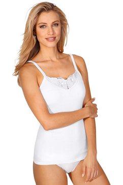 schoeller lingeriehemd met batistkant wit