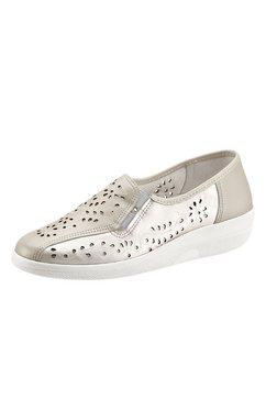 airsoft instappers met leren voetbed wit