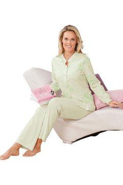 ringella pyjama van puur katoen groen