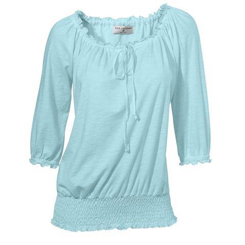 NU 10% KORTING: Shirt met carmenhals