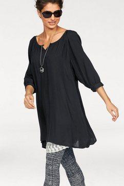 Lange blouse met ronde hals