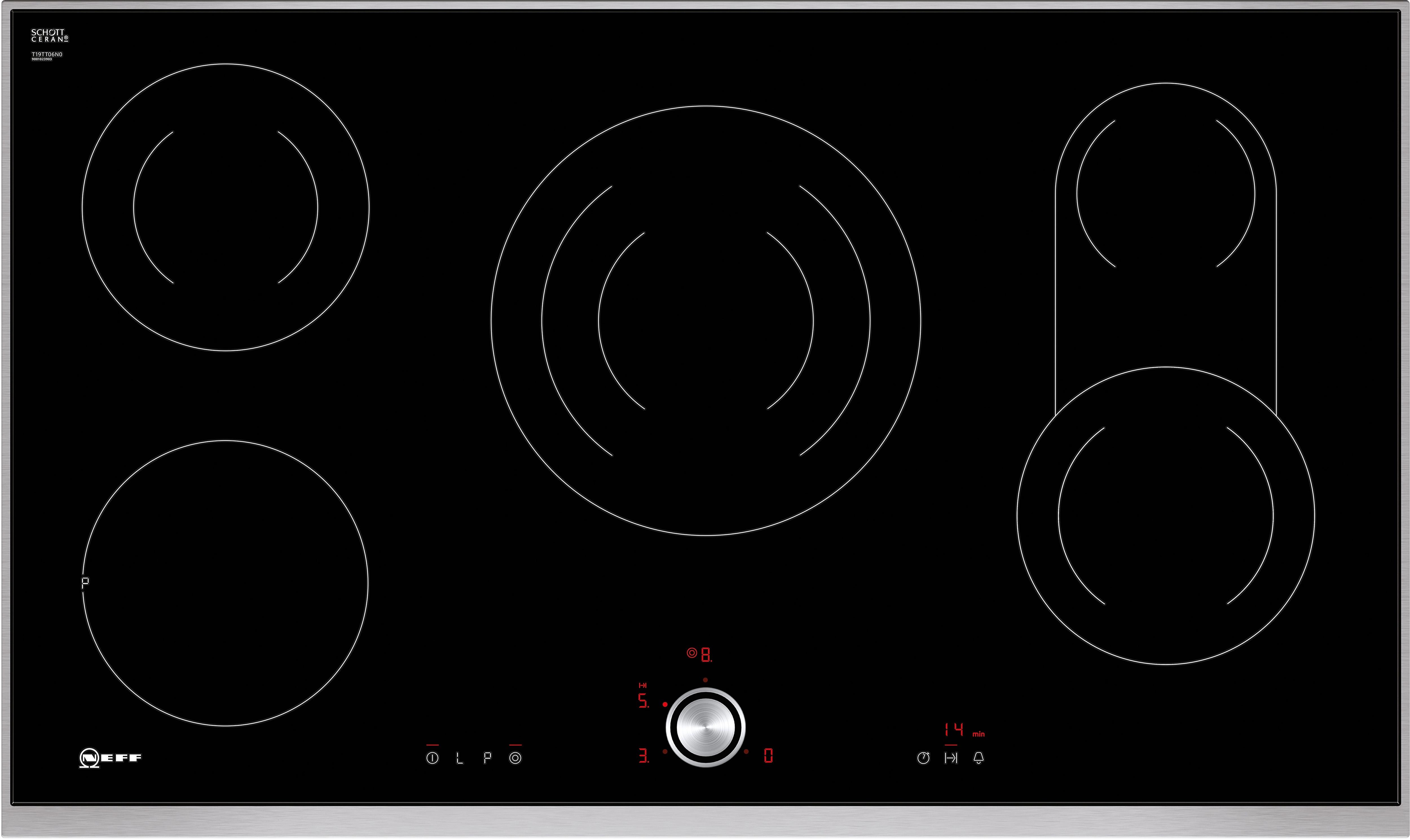 neff keramische kookplaat met twistpad flat bediening ttt 1906 n t19tt06n0 in de online shop. Black Bedroom Furniture Sets. Home Design Ideas