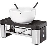 wmf raclette en fondueset voor twee kuechenminis, 3 raclettepannetjes, 370 watt zilver