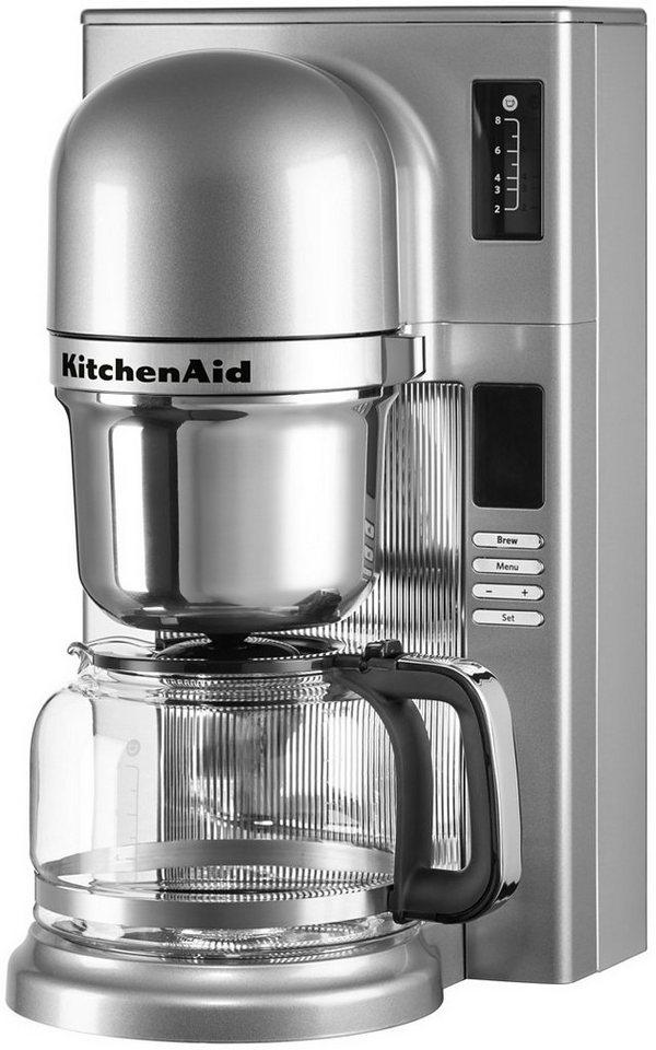Kitchenaid Koffiezetapparaat 5KCM0802ECU, met glazen kan, contour-zilverkleur