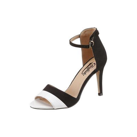 Schoen: BUFFALO Highheel-sandaaltjes in materialenmix