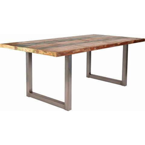 SIT eettafel Tops, van gerecycled, gebruikt hout en metaal