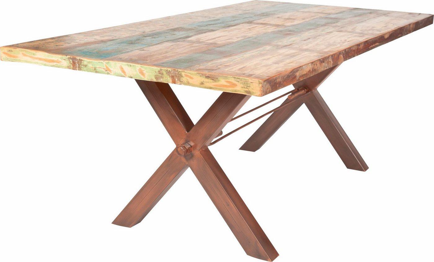 SIT Eettafel Tops, van gerecycled, gebruikt hout