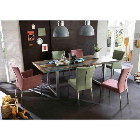 Eettafels SIT eettafel Tops van gerecycled gebruikt hout en metaal 575170