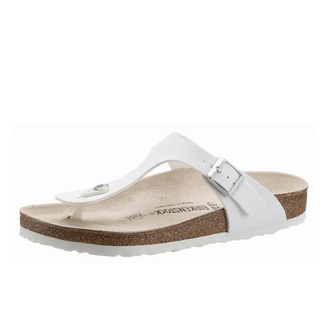 Schoen: BIRKENSTOCK Teenslippers in nubuck-look