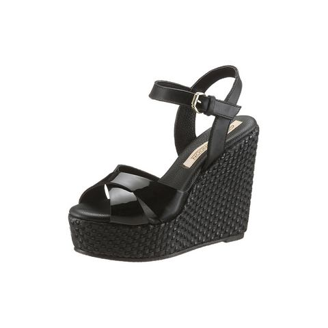 Schoen: BUFFALO LONDON highheel-sandaaltjes in vlecht-look