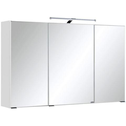 HELD MÖBEL kast Texas witte badkamer spiegelkast 48