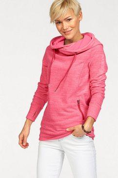 Fleece-shirt in gemêleerde look