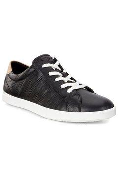 ecco sneakers leisure met uitneembare leren binnenzool zwart