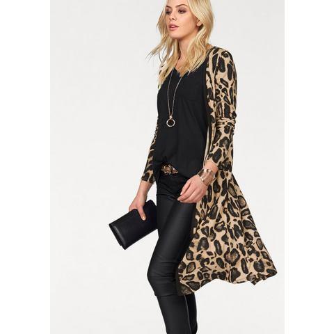 MELROSE Shirt-jasje met allover-luipaardprint