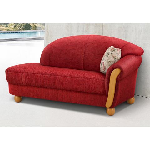 woonkamer driepersoons bankstel rood chenille HOME AFFAIRE chaise longue Milano