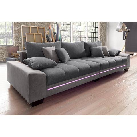 woonkamer extra groot bankstel grijs Megabank met verlichting naar keuze met geluidssysteem 101
