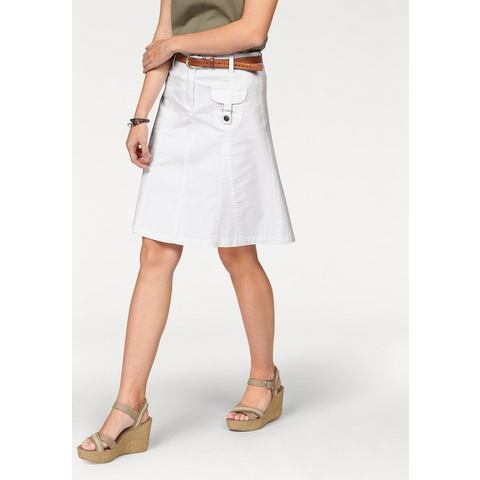 NU 20% KORTING: CHEER Jeans-rok met riemlussen