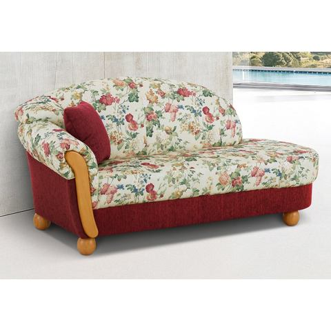 woonkamer driepersoons bankstel rood Chenille paradise HOME AFFAIRE chaise longue Milano