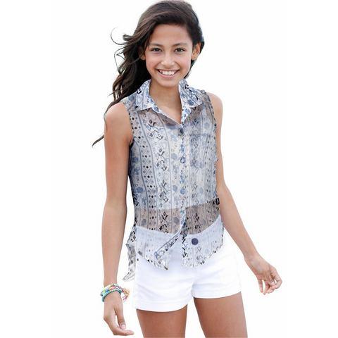 ARIZONA Lange blouse in mouwloos model