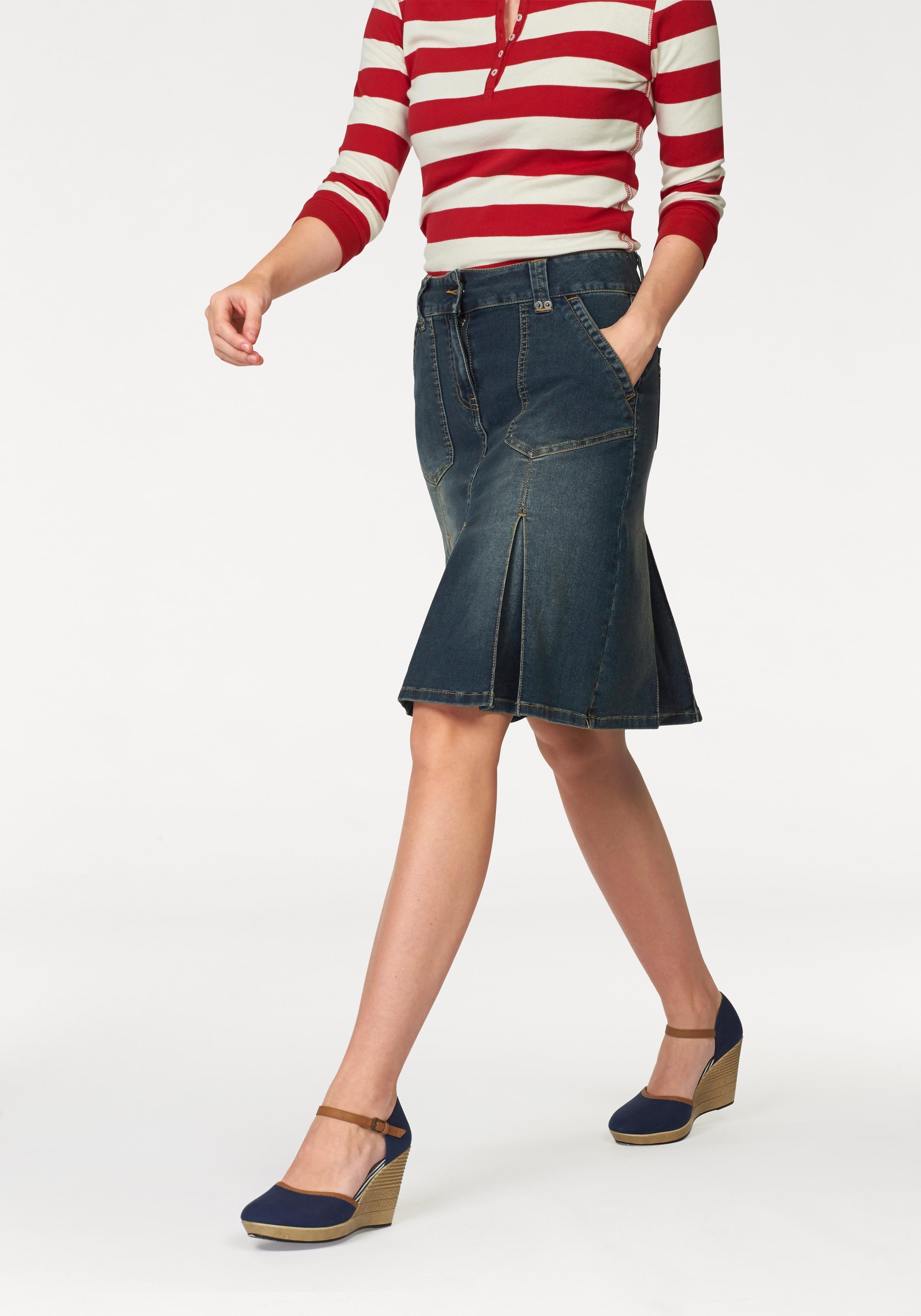 Op zoek naar een Aniston Casual CHEER Jeans-rok met stolpplooien? Koop online bij OTTO