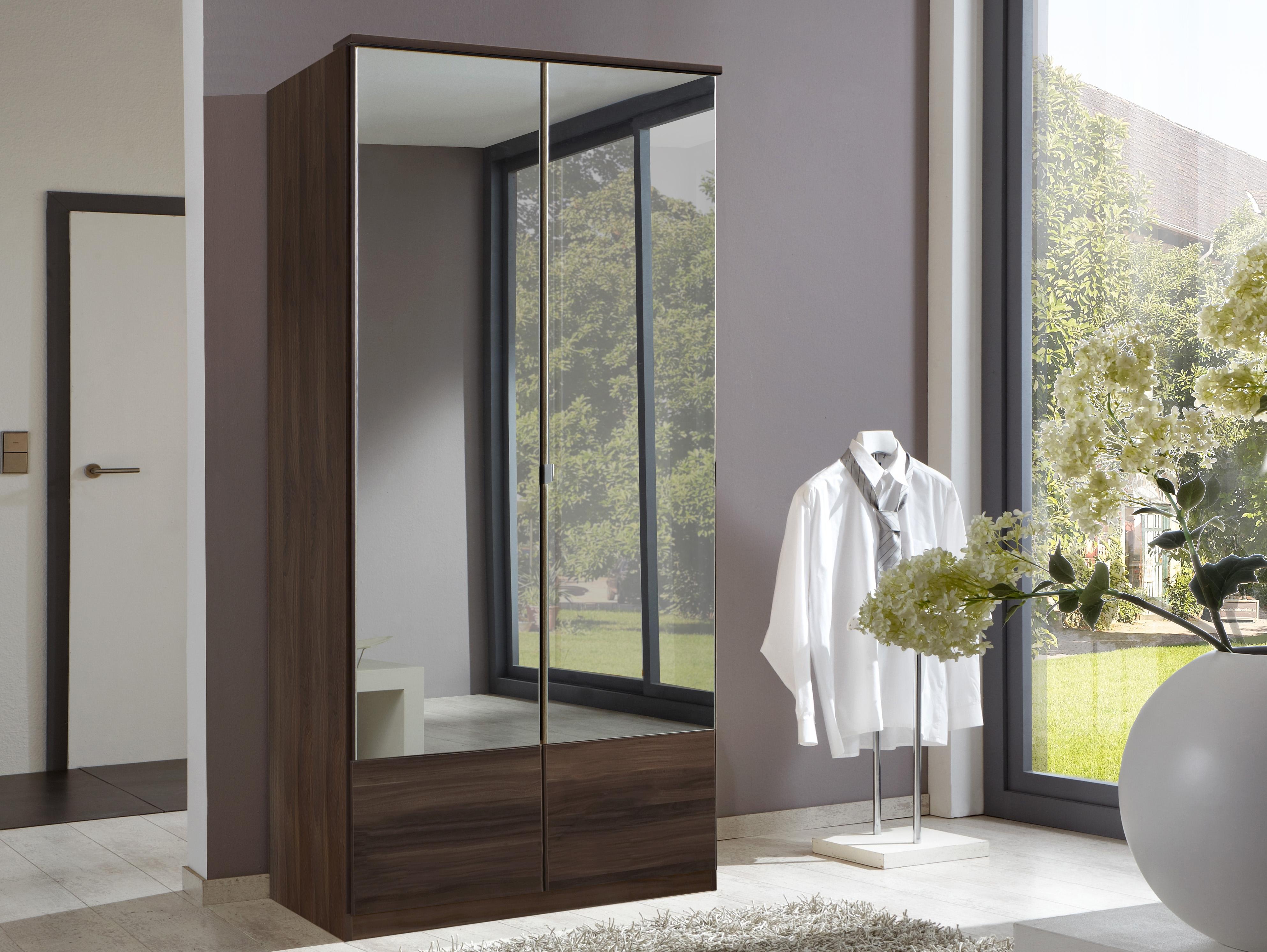 garderobekast met spiegeldeuren in de online shop otto. Black Bedroom Furniture Sets. Home Design Ideas