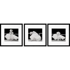 gc wanddecoratie »marilyn monroe bilderset« (set) zwart