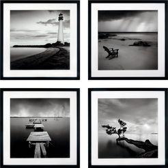 gc artprint »levy: beach bilderset« (set) zwart