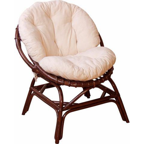 Eetkamerstoelen HOME AFFAIRE Papasan-stoel inclusief kussen 378719