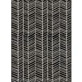andas vloerkleed »luke«, andas, rechthoekig, hoogte 8 mm, machinaal geweven zwart