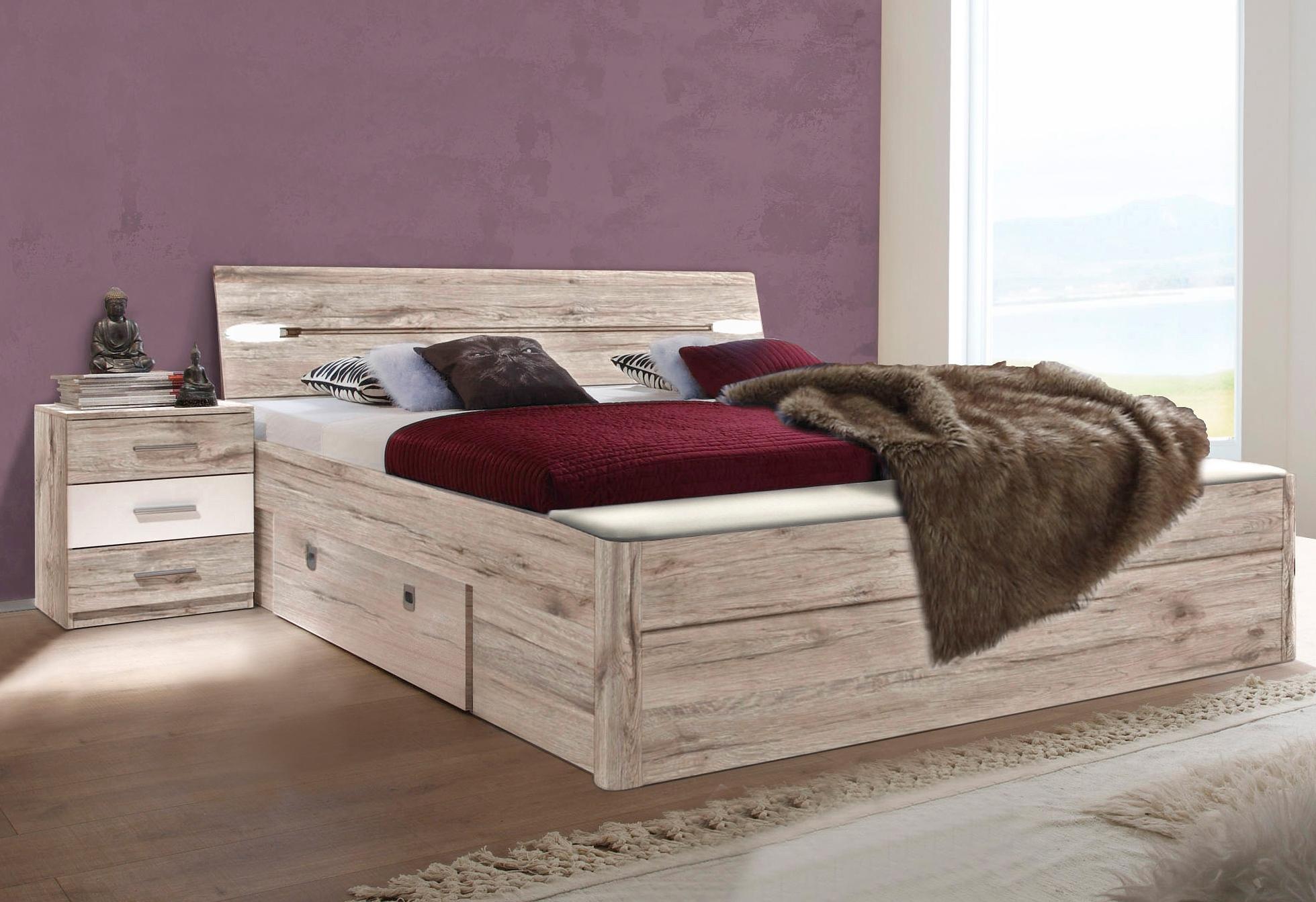 Bed met bergruimte en slaapkamerbankje bij OTTO online kopen