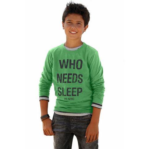 ARIZONA Shirt met lange mouwen WHO NEEDS SLEEP