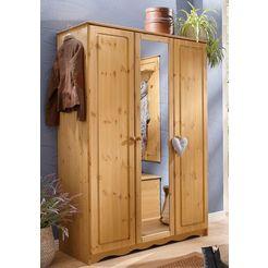 home affaire garderobekast »emden«, met spiegel beige