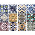 home affaire tegelsticker »ornamenten«, 12x 15x15 cm multicolor