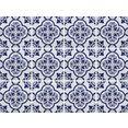 home affaire tegelsticker blauwe ornamenten (set, 12 stuks) blauw