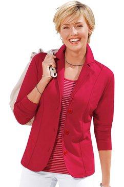 casual looks jerseyblazer in comfortabele en gemakkelijk te onderhouden kwaliteit rood
