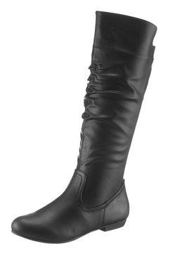 city walk laarzen met modieuze rimpelingen bij de schacht zwart