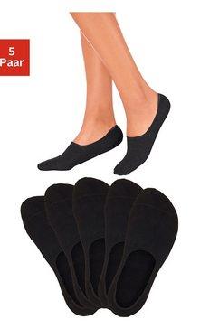 open kousenvoetjes (5 paar), bench, ideaal voor lage schoenen, leuke kleurkeuze zwart